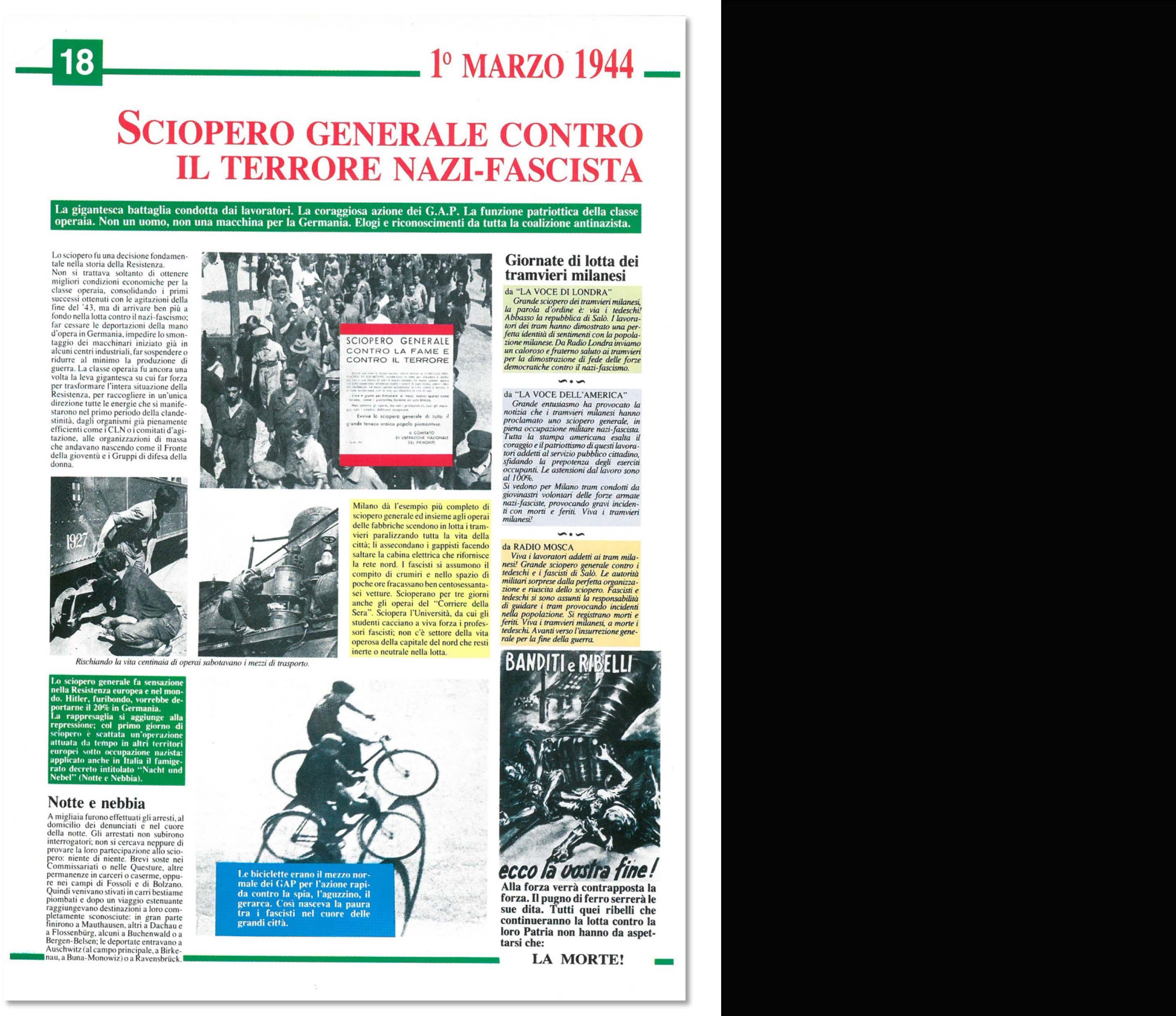 Storia e cronaca della Resistenza in Italia e Europa